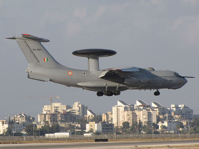 ISRAELI PHALCON AWACS on RUSSIAN IL76