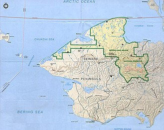 Seward Peninsula - Much of the peninsula is part of the Bering Land Bridge Preserve, administered by the National Park Service
