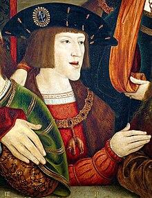 Karl als junger Prinz (Ausschnitt aus dem Gemälde von Bernhard Strigel, ca. 1516) (Quelle: Wikimedia)