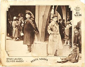 1929 in film - Lobby card of Berth Marks.