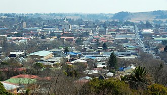 Bethlehem, Free State - Aerial View of Bethlehem CBD seen from uitsig