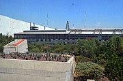 Biblioteca Vasconcelos - vista a los jardines desde el primer piso