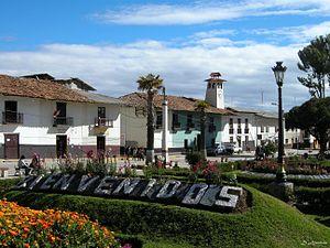 Huamachuco - Image: Bienvenidos a Huamachuco