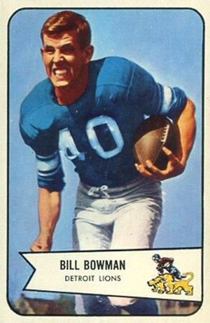 Bill Bowman (American football) - 1954 Bowman football card