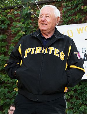 Bill Mazeroski - Mazeroski at the site of Forbes Field on the 50th anniversary of his series-winning home run, 2010