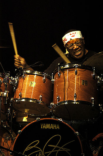 Drummer Billy Cobham at the WOMAD (World Music...
