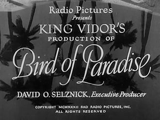 File:Bird of Paradise (1932).webm