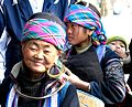 Black H'mong family – Grandmother, mother, grandson- Sapa Vietnam.JPG