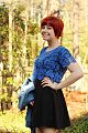 Blue Lace Top, Black Dress, Red Pixie Cut.jpg