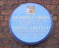 Blue Plaque, Cobden House Chambers, 19 Quay Street, Manchester M3 3HN - geograph.org.uk - 2014483.jpg