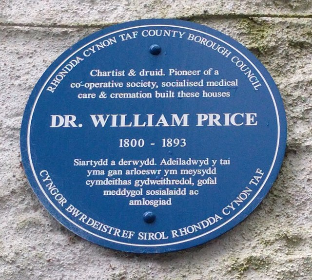 Photo of William Price blue plaque