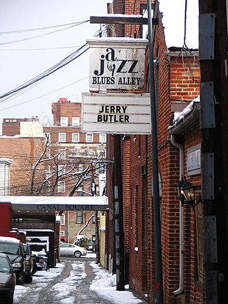 Blues Alley - Blues Alley entrance seen from the street