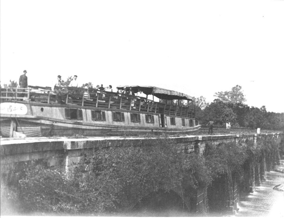 Boat on Monocacy Aqueduct C and O Canal
