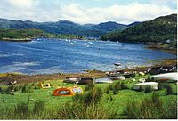 Boats pulled up on the grass at Badachro.jpg
