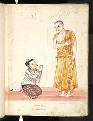 Hpon-gyee. A Buddhist monk