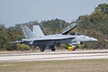 Boeing FA-18F Super Hornet Taxi Out 02 TICO 13March2010 (14412776670).jpg