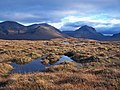 Boggy moorland with a Cuillin backdrop - geograph.org.uk - 1536123.jpg
