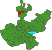 Location within the state of Jalisco