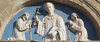 Basilica of Santa Cristina, Bolsena - Entrance portal lunette by Buglioni