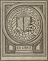 Book plate, University of California, MDCCCLXVIII (1868), FIAT LUX, Ex Libris, BHL23731638 (cropped).jpg