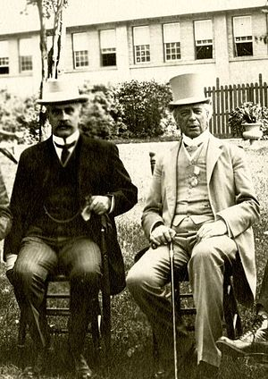 1910 in Canada - Prime Ministers Robert Borden and Wilfrid Laurier. At the time of this photo, in 1912, Borden was Prime Minister of Canada, and Laurier was Leader of the Opposition.