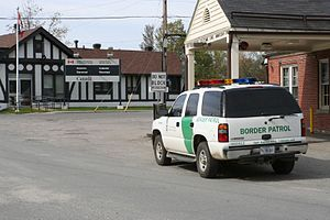 United States Border Patrol - Border crossing to Canada at Beebe Plain, Vermont