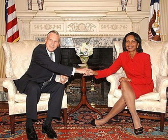 Ben Bot - Ben Bot with then United States Secretary of State Condoleezza Rice in 2006.