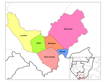 Mouyondzi District in the region