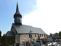 Bournainville-Faverolles (Eure, Fr) église de Bournainville.JPG