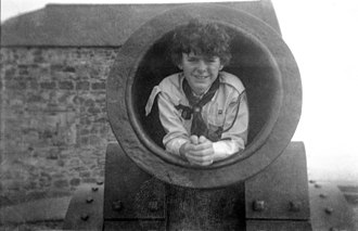 Mons Meg - The cannon is wide enough to contain a boy.