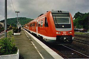 Upper Ruhr Valley Railway - RE 17 in Meschede station