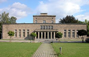 """Academy for Youth Leadership - The former """"Akademie für Jugendführung"""", built 1937 to 1939, in Braunschweig, as seen from the south."""