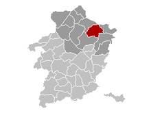 Location of Bree in Limburg