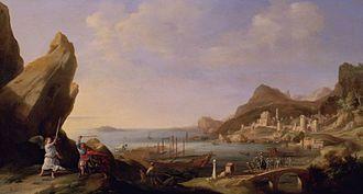 Balak (parsha) - Coastal Landscape with Balaam and the Ass (1636 painting by Bartholomeus Breenbergh)