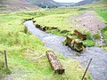 Bridge Relics, Wanlock Water - geograph.org.uk - 1473011.jpg