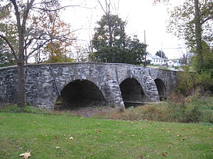 Bridge in Albany Township - Bridge in Albany Township, October 2009