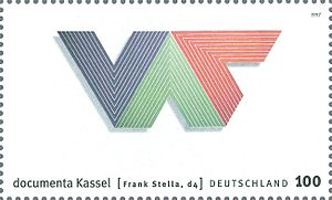 4. documenta - stamp Frank Stella d4 1997