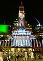 Brisbane City Hall Christmas light show, 2019, 01.jpg