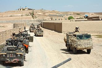 Siege of Sangin - A British patrol in Sangin.