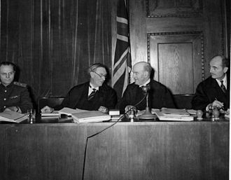 Francis Biddle - Francis Biddle (far right) with other judges at the Nuremberg trials (from left) Iona Nikitchenko (Soviet Union), Norman Birkett and Geoffrey Lawrence (United Kingdom).