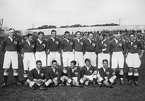British and Irish Lions - The British Lions before playing the 4th. test v. Argentina during their second tour to the country in 1927