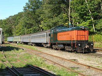 Berkshire Scenic Railway Museum - Excursion train ran by the Berkshire Scenic Railway Museum