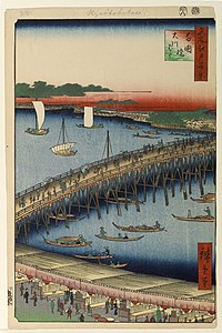 Brooklyn Museum - Ryogoku Bridge and the Great Riverbank No 59 from One Hundred Views of Edo - Utagawa Hiroshige (Ando).jpg