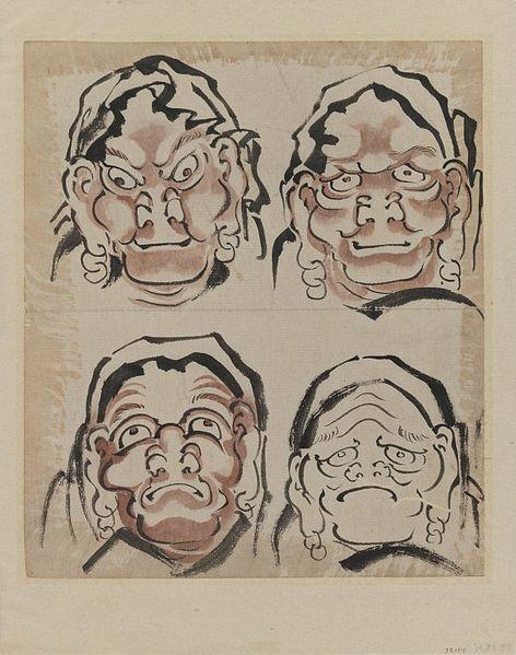 File:Brooklyn Museum - Sketch of Four Faces - Katsushika Hokusai.jpg
