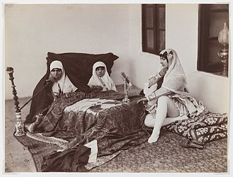 Antoin Sevruguin - Image: Brooklyn Museum Two Ladies and a Child Reposing in the Harem Antoin Sevruguin