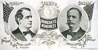 William Jennings Bryan - Bryan/Sewall campaign poster
