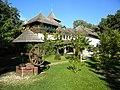 Bucharest, Romania. Village Museum.Buildings with traditional water fountain - DSCN8610.jpg