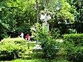 Bucuresti, Romania. PARCUL GRADINA ICOANEI. Peisaj cu statuie (B-II-a-B-18301).jpg
