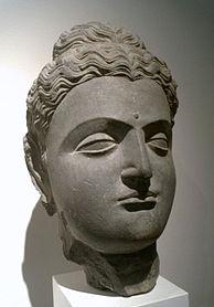Gandhara Buddha, 1st-2nd century CE, Musée Guimet.