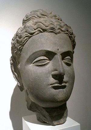 Gandhara Buddha. 1st-2nd century. Musee Guimet...